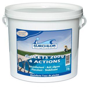 galets 200g-4actions-5kg-surchlor